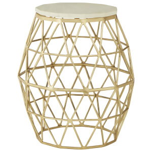 Fifty Five South Templar Side Table - Gold/Stone