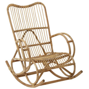 Fifty Five South Woodstock Rocker Rattan Chair - Natural