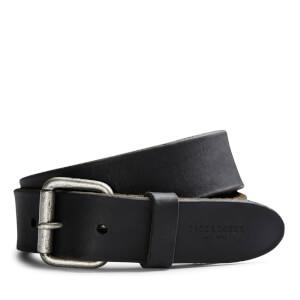 Jack & Jones Men's Jakob Leather Belt - Black