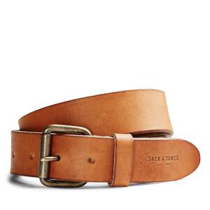 Jack & Jones Men's Jakob Leather Belt - Mocha Bisque