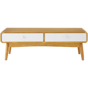 Fifty Five South Malmo Two Drawer Coffee Table - White Oak Veneer