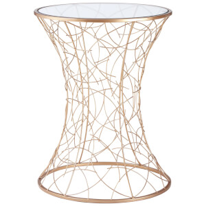 Fifty Five South Lexa Concave Table - Rose Gold