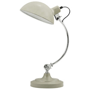 Fifty Five South Vermont Table Lamp - Clay/Chrome
