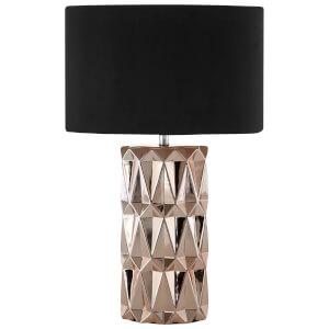 Fifty Five South Jaxon Table Lamp - Copper/Black