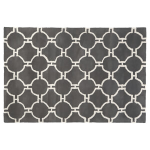 Fifty Five South Kensington Townhouse Rug - Light Grey/White