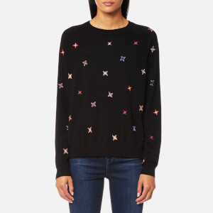 PS by Paul Smith Women's Star Crew Jumper - Black