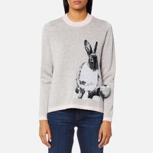 PS by Paul Smith Women's Lucky Rabbit Knitted Jumper - Grey