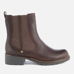Clarks Women's Orinoco Club Leather Chelsea Boots - Burgundy