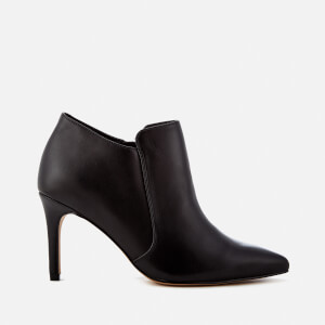 Clarks Women's Dinah Spice Leather Shoe Boots - Black