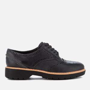 Clarks Women's Witcombe Echo Nubuck Brogues - Black
