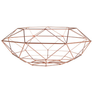 Vertex Abstract Fruit Basket - Copper Finish