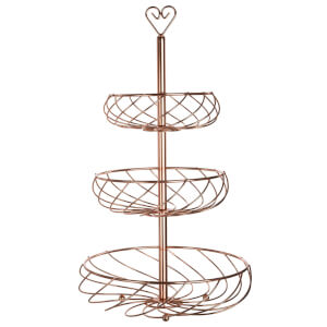 Kuper 3 Tier Fruit Basket - Rose Gold