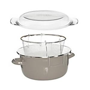 Enamel on Steel Deep Fryer - Grey