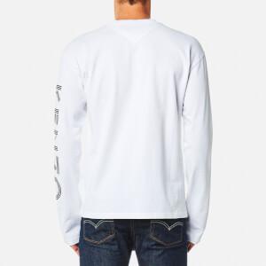 KENZO Men's Sleeve Logo Long Sleeve T-Shirt - White: Image 2