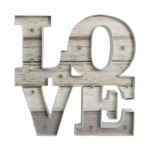 Art For The Home Lit Love Metal Wall Art