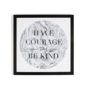 Art For The Home Marbled Have Courage Framed Print Wall Art