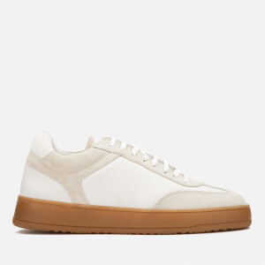 ETQ. Men's Low 5 Trainers - Army/Off White