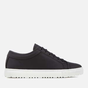 ETQ. Men's Low 1 Rugged Full Grain Leather Trainers - Black