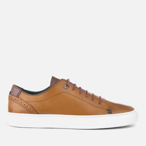 Ted Baker Men's Duuke Leather Cupsole Trainers - Tan