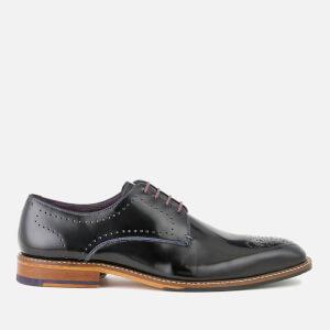 Ted Baker Men's Marar High Shine Leather Derby Shoes - Black