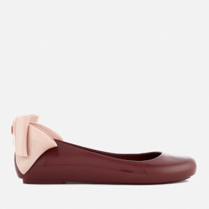 Melissa Women's Space Love Gift Bow Ballet Flats - Berry Contrast