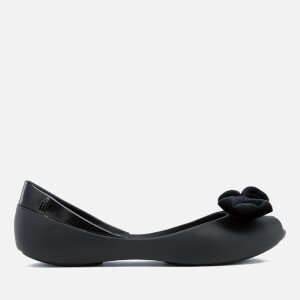 Melissa Women's Queen Velvet Bow Ballet Flats - Black