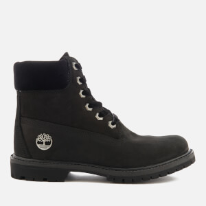 Timberland Women's 6 Inch Water Resistant Boots - Black Waterbuck with Velvet Collar