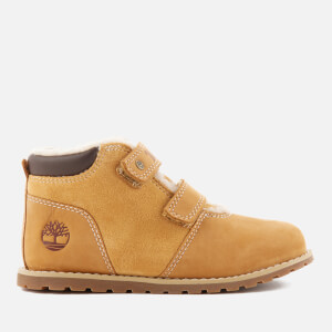 Timberland Toddlers' Pokey Pine Warm Lined Velcro Boots with Faux Fur - Wheat Naturebuck