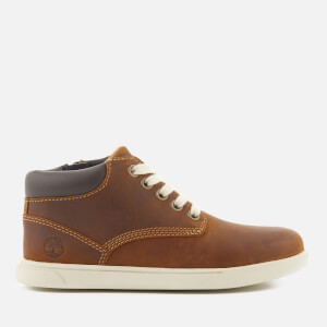 Timberland Kids' Groveton Leather Chukka Boots - Red Medium Brown