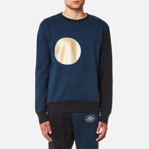 Vivienne Westwood MAN Men's Sun and Moon Crew Sweatshirt - Petrol Blue/Black Mix