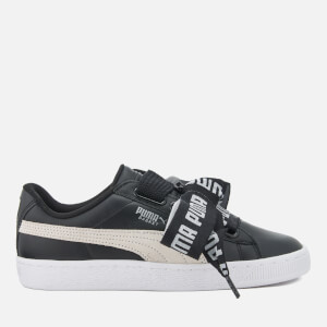 Puma Women's Basket Heart Trainers - Puma Black/Puma White