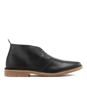 Jack & Jones Men's Gobi Leather Desert Boots - Dark Slate