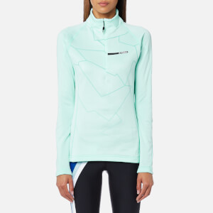 adidas Terrex Women's Icesky 2 Long Sleeve Fleece Jumper - Clear Aqua