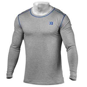 Better Bodies Performance Long Sleeve T-Shirt - Grey Melange