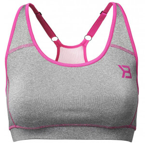 Better Bodies Sports Bra - Grey Melange/Pink
