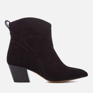 Hudson London Women's Karyn Suede Heeled Ankle Boots - Black