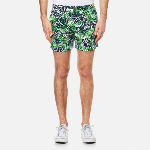 Vilebrequin Men's Merise Leaf Print Swim Shorts - Madrague