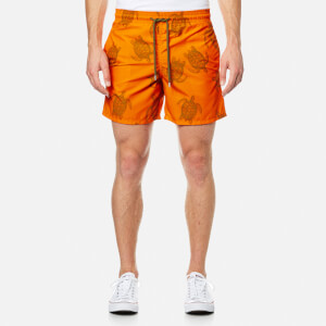 Vilebrequin Men's Moorea Turtle Print Swim Shorts - Tortues Galuchat