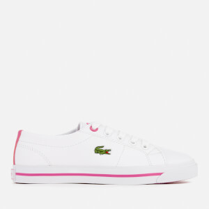 Lacoste Kids' Riberac 117 1 Trainers - White/Pink