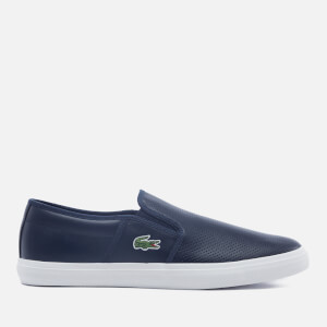 Lacoste Men's Gazon Bl 1 Leather Slip-On Trainers - Navy