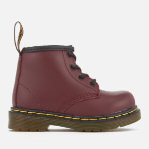 Dr. Martens Toddlers' Brooklee B Leather Lace Up Boots - Cherry Red