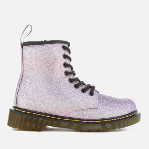 Dr. Martens Kids' Delaney Glitter 8-Eye Lace Up Boots - Pink/Multi