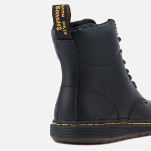 Dr. Martens Kids' Lite Malky Leather 8-Eye Lace Up Boots - Black: Image 6