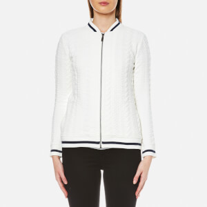 Barbour Women's Kelsey Sweat Bomber Jacket - Cloud