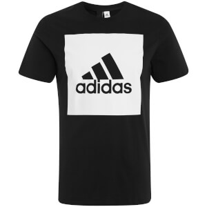 adidas Men's Essential Square Logo T-Shirt - Black