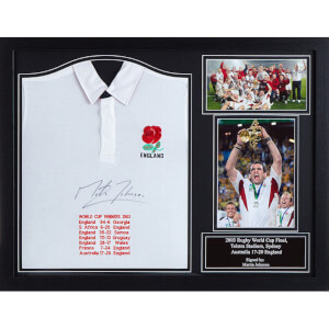 Martin Johnson Signed and Framed England Shirt