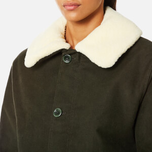A.P.C. Women's Boreale Coat - Kaki Militaire: Image 4