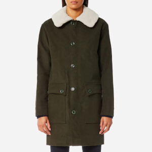A.P.C. Women's Boreale Coat - Kaki Militaire