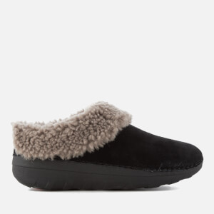 FitFlop Women's Loaff Suede Snug Slippers - Black