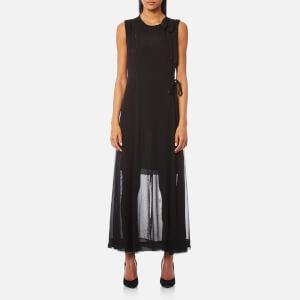 Diane von Furstenberg Women's Sleeveless High Neck Tie Flare Dress - Black
